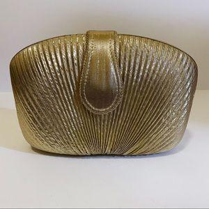 La Regale clutch gold lame